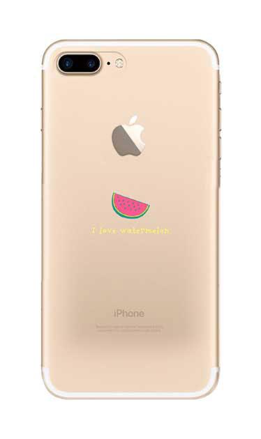 iPhone8 Plusのケース、I love watermelon【スマホケース】