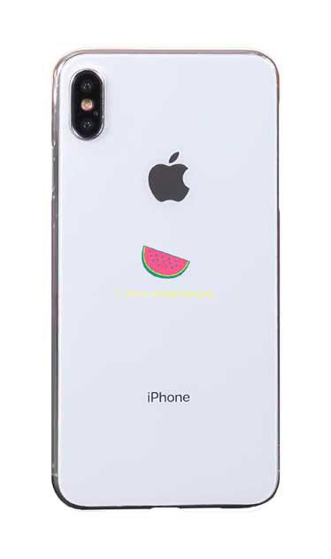 iPhoneXS Maxのケース、I love watermelon【スマホケース】