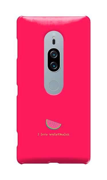 Xperia XZ2 Premiumのケース、I love watermelon【スマホケース】