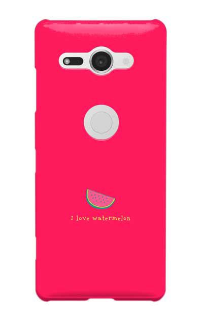 Xperia XZ2 Compactのケース、I love watermelon【スマホケース】