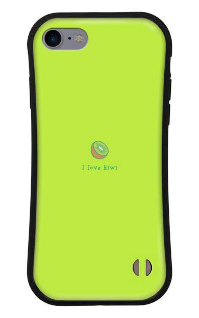 iPhone8のグリップケース、I love kiwi【スマホケース】