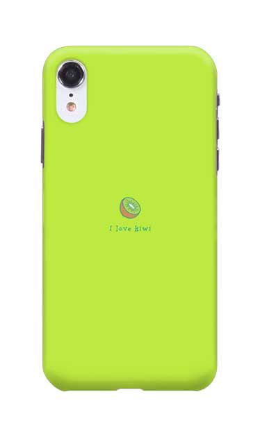 iPhoneXRのハードケース、I love kiwi【スマホケース】