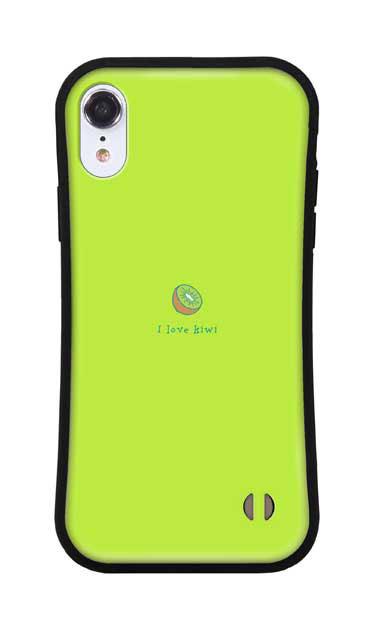 iPhoneXRのグリップケース、I love kiwi【スマホケース】