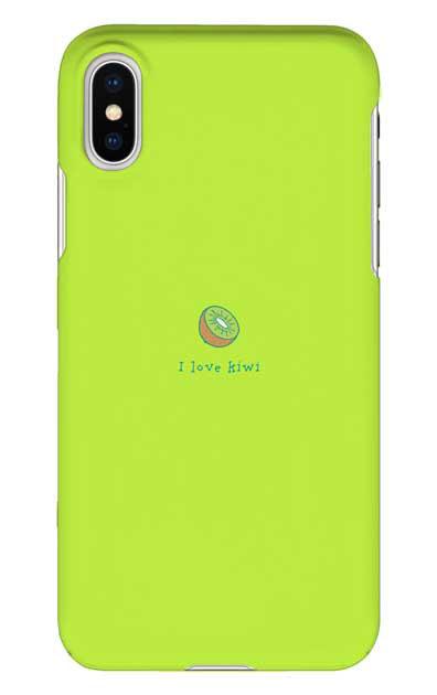 iPhoneXSのハードケース、I love kiwi【スマホケース】