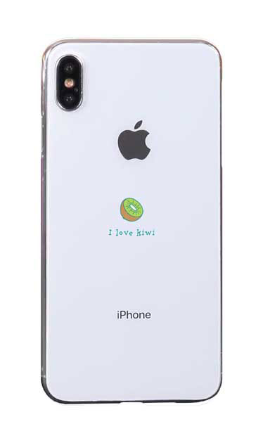 iPhoneXS Maxのケース、I love kiwi【スマホケース】