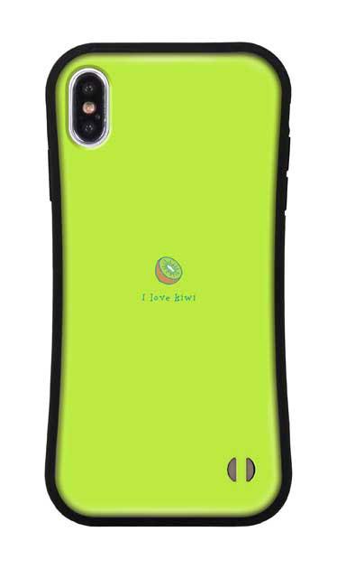 iPhoneXS Maxのグリップケース、I love kiwi【スマホケース】