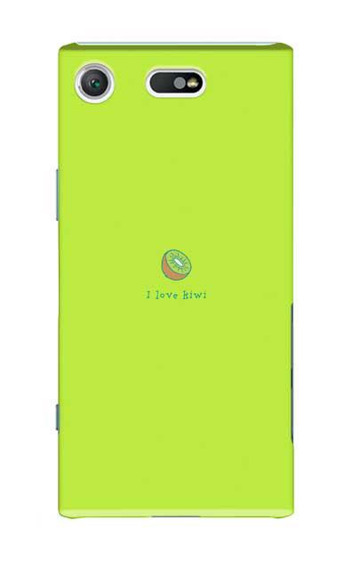 Xperia XZ1 Compactのケース、I love kiwi【スマホケース】