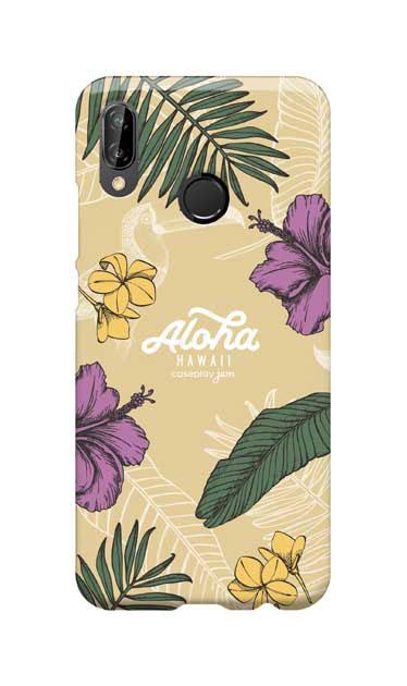 HUAWEI P20 liteのケース、Aloha*ハワイアンプラント【スマホケース】