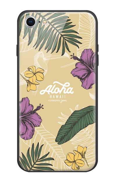iPhone7のガラスケース、Aloha*ハワイアンプラント【スマホケース】