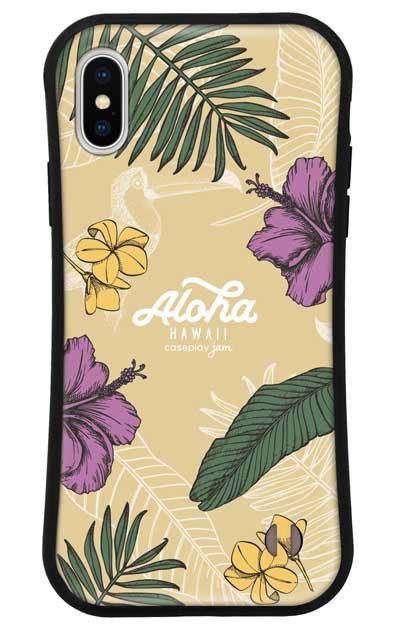 iPhoneXSのケース、Aloha*ハワイアンプラント【スマホケース】