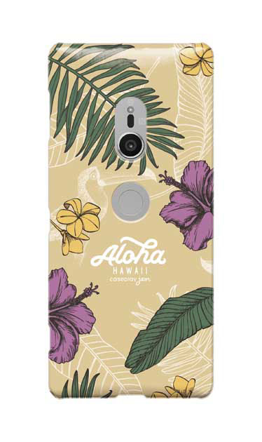 Xperia XZ2のケース、Aloha*ハワイアンプラント【スマホケース】