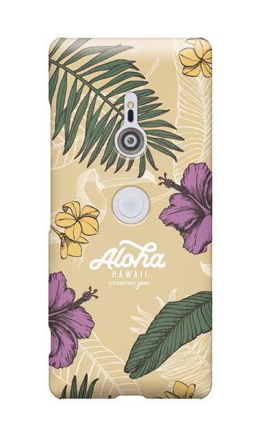 Xperia XZ3のケース、Aloha*ハワイアンプラント【スマホケース】