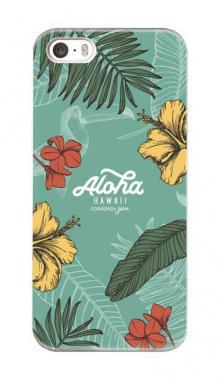 b2dbab9b00 iPhone5対応のハードケース・ツヤ有り、Aloha*ハワイアンプラント【スマホケース】