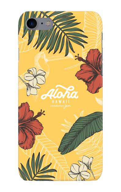 iPhone7のケース、Aloha*ハワイアンプラント【スマホケース】