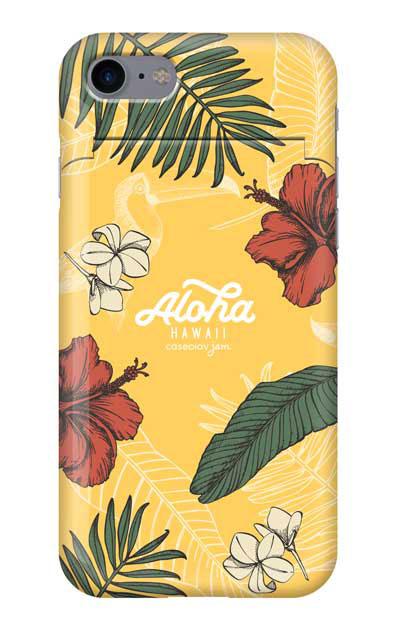 iPhone8のミラー付きケース、Aloha*ハワイアンプラント【スマホケース】