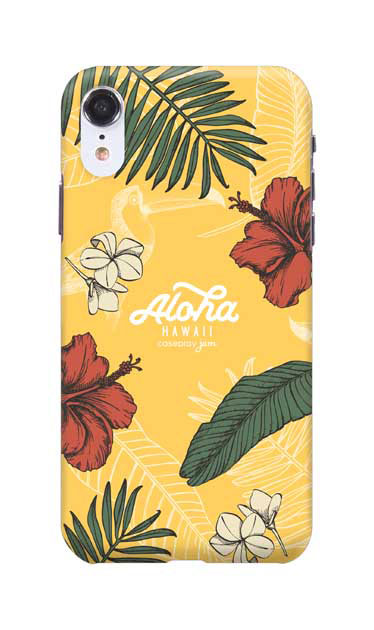 iPhoneXRのケース、Aloha*ハワイアンプラント【スマホケース】