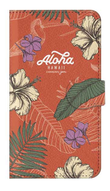 AQUOS sense2 かんたんのケース、Aloha*ハワイアンプラント【スマホケース】