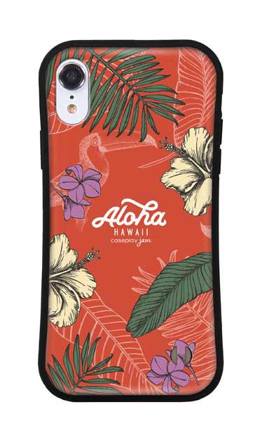 iPhoneXRのグリップケース、Aloha*ハワイアンプラント【スマホケース】