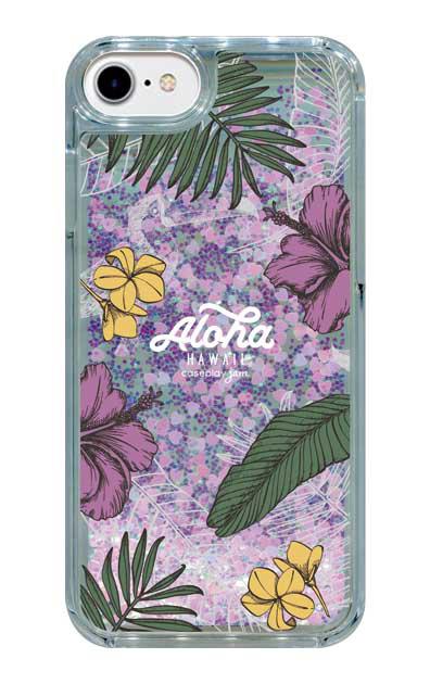 iPhone6のグリッターケース、Aloha*ハワイアンプラント【スマホケース】
