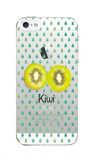 iPhoneSEのクリア(透明)ケース、kiwi【スマホケース】