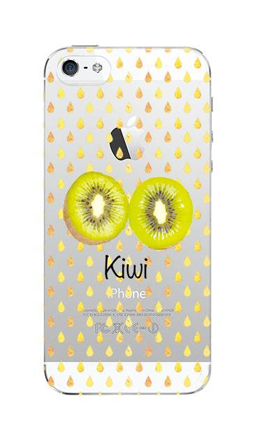 iPhone5Sのクリア(透明)ケース、kiwi【スマホケース】