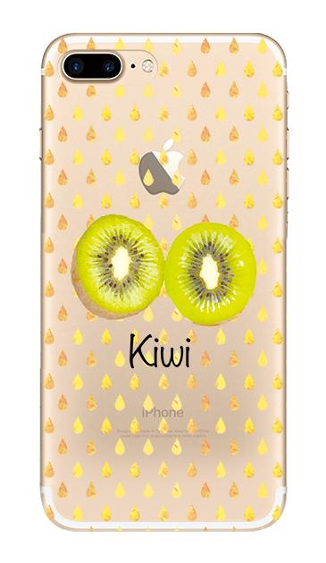 iPhone7 Plusのクリア(透明)ケース、kiwi【スマホケース】
