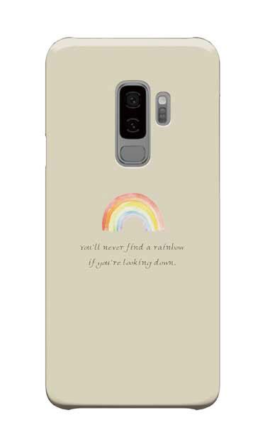 Galaxy S9+のケース、パステルレインボー【スマホケース】