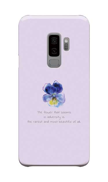 Galaxy S9+のケース、パステルパンジー【スマホケース】