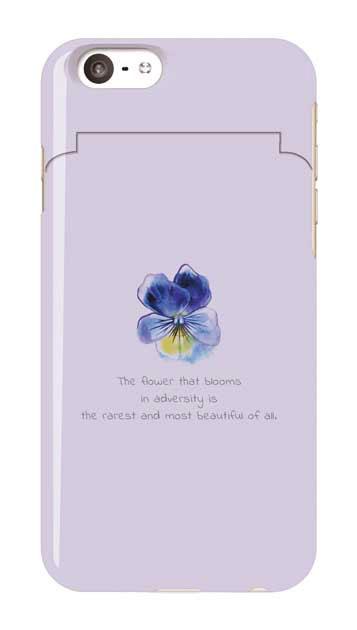 iPhone6sのミラー付きケース、パステルパンジー【スマホケース】
