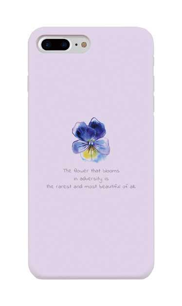 iPhone8 Plusのケース、パステルパンジー【スマホケース】