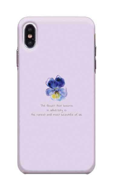 iPhoneXS Maxのケース、パステルパンジー【スマホケース】