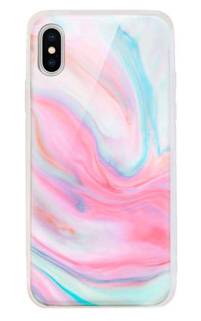 iPhoneXSのケース、カラフルスイートマーブル【スマホケース】