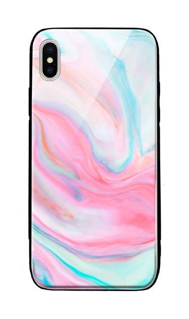 iPhoneXS Maxのケース、カラフルスイートマーブル【スマホケース】
