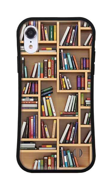 iPhoneXRのグリップケース、ランダムサイズ本棚【スマホケース】