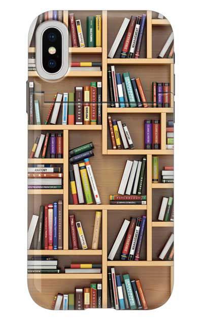 iPhoneXSのミラー付きケース、ランダムサイズ本棚【スマホケース】