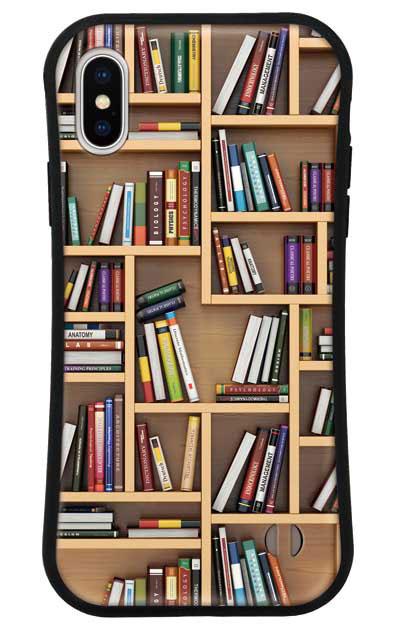 iPhoneXSのグリップケース、ランダムサイズ本棚【スマホケース】