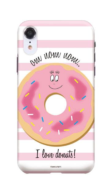 iPhoneXRのケース、バーバパパ ドーナッツ【スマホケース】