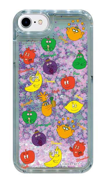iPhone8のグリッターケース、バーバフルーツ【スマホケース】