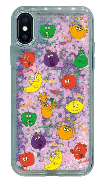 iPhoneXのグリッターケース、バーバフルーツ【スマホケース】