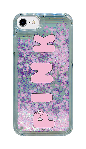 iPhone7のグリッターケース、バーバPINK【スマホケース】