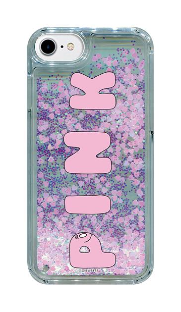 iPhone8のグリッターケース、バーバPINK【スマホケース】