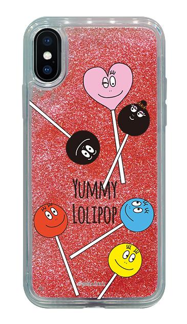 iPhoneXのグリッターケース、LOLIPOP【スマホケース】