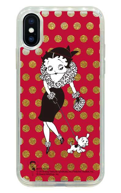 iPhoneXのグリッターケース、ベティ&パジー【スマホケース】