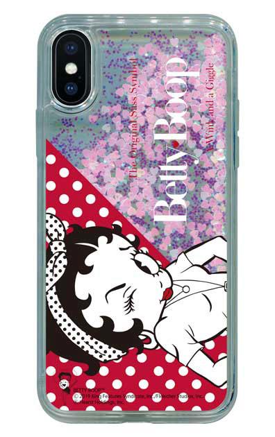 iPhoneXのグリッターケース、Wink【スマホケース】