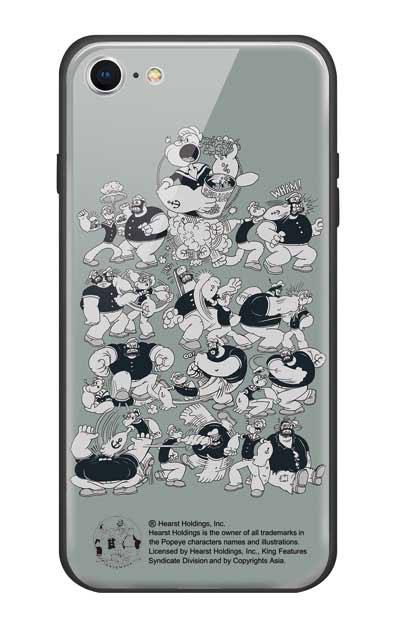 iPhone8のガラスケース、ポパイ&ブルート【スマホケース】