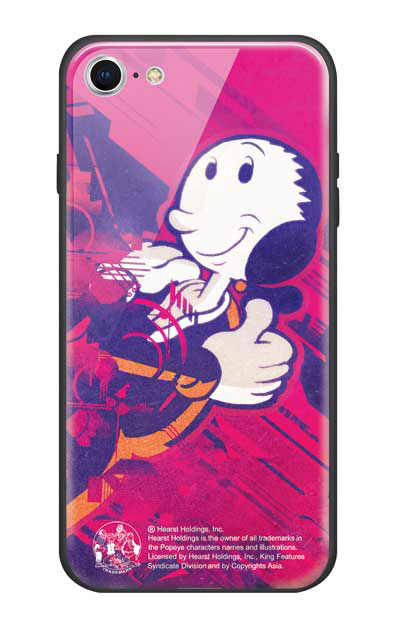 iPhone8のガラスケース、抱き寄せオリーブ【スマホケース】