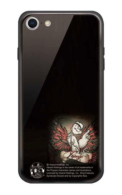 iPhone8のガラスケース、1番ポパイ【スマホケース】