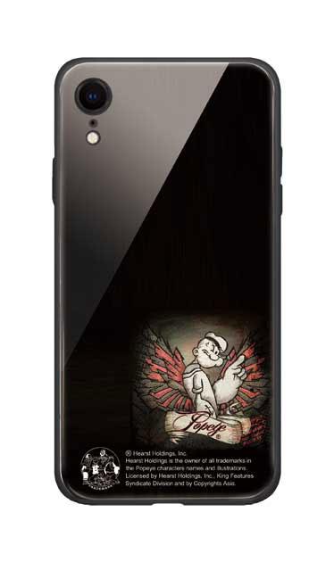 iPhoneXRのガラスケース、1番ポパイ【スマホケース】