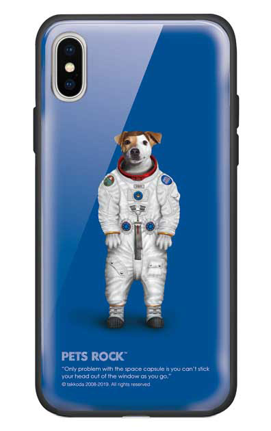 iPhoneXのガラスケース、《PETS ROCK》Rover Full Length【スマホケース】