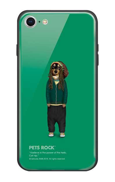 iPhone7のガラスケース、《PETS ROCK》Reggae【スマホケース】